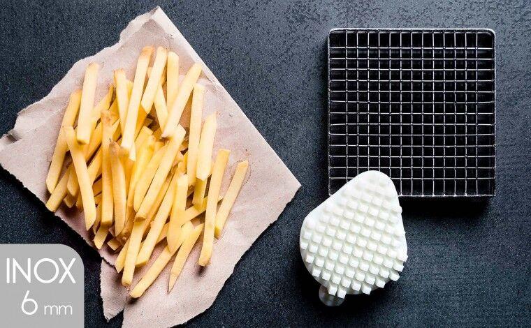 Tellier Kit couteau inox et poussoir (6x6 mm) pour coupe-frites