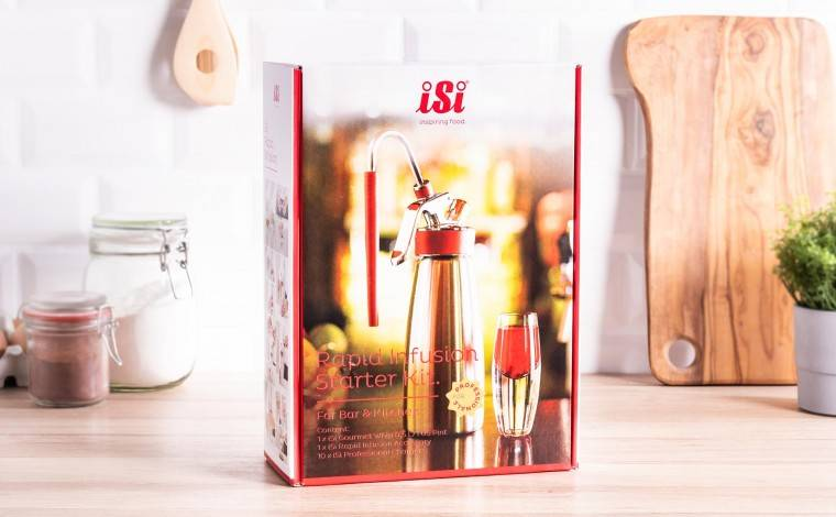 """Isi COFFRET Siphon """"Rapid infusion"""" 1/2 litre"""