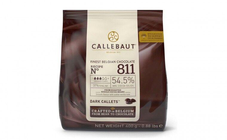 Callebaut Chocolat noir 811 pistoles - 400 grammes