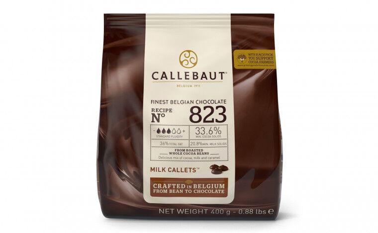 Callebaut Chocolat au lait 823 pistoles - 400 grammes