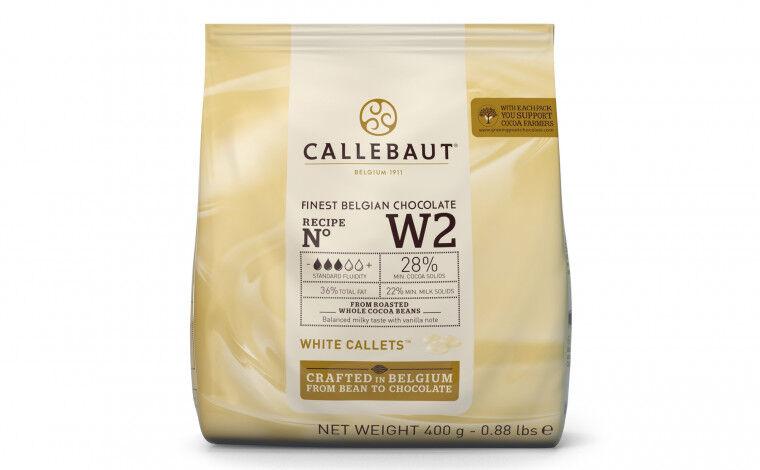 Callebaut Chocolat blanc W2 pistoles - 400 grammes