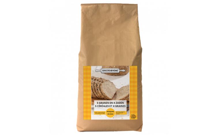 Colichef Farine 5 Céréales et 4 Graines - Mélange Prêt à l'Emploi 2kg