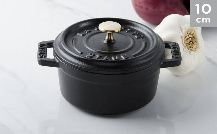Staub Cocotte fonte noire 10 cm