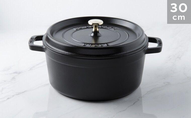 Staub Cocotte fonte noire 30 cm