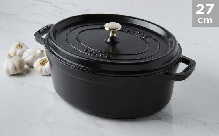 Staub Cocotte ovale fonte noire 27 cm