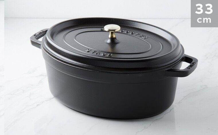Staub Cocotte ovale fonte noire 33 cm