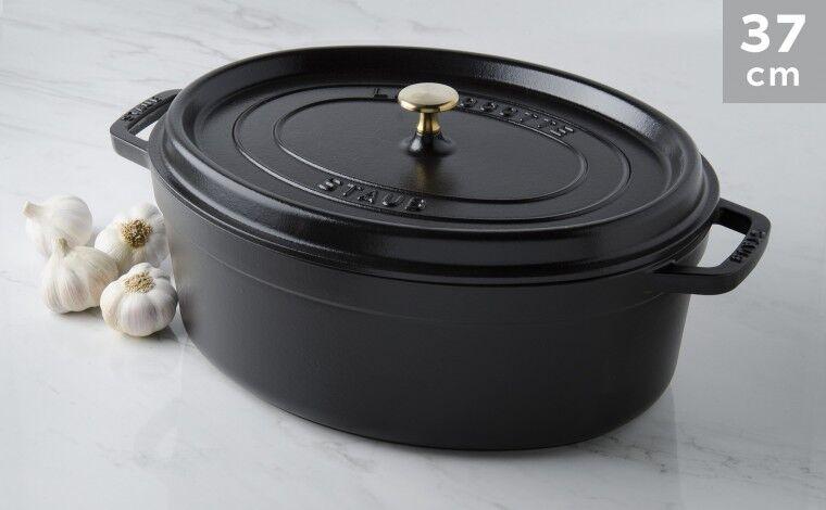 Staub Cocotte ovale fonte noire 37 cm
