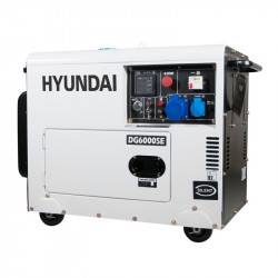 Hyundai groupe electrogène insonorisé diesel 5300w monophasé dhy6000se