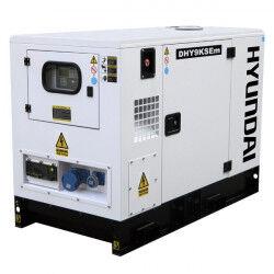 Hyundai groupe électrogène diesel dhy9ksem insonorisé monophasé