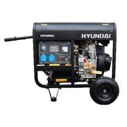 Hyundai groupe électrogène diesel monophasé 5500w 5000 w - dhy6000lek