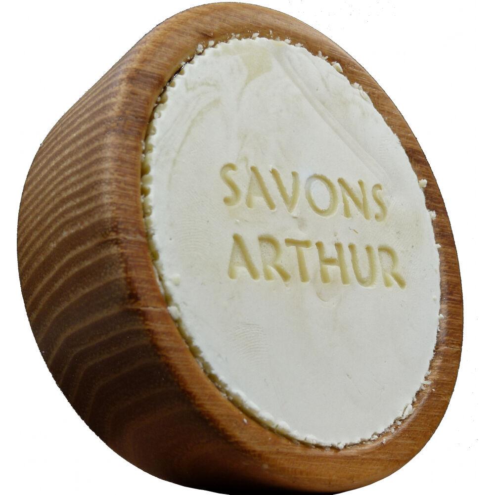Savons arthur Savon à barbe Bio et son bol en bois d'acacia : Conditionnement - Recharge