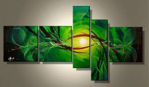 EVA JEKINS Tableaux design vert Abstrait Green Five