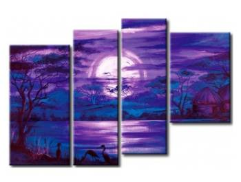 EVA JEKINS Tableau design Afrique violet