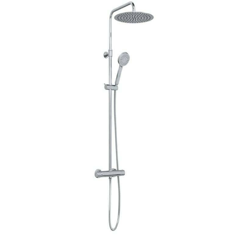 "Sanita ""Colonne de douche thermostatique en inox chromé - Indo"""
