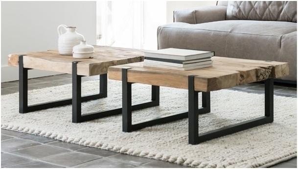 Dbodhi Table basse carrée teck celebes 70 x 70 cm