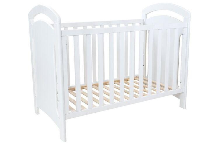 Abc meubles - lit bébé isla blanc