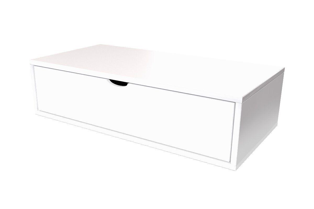 Abc meubles - cube de rangement 100x50 cm + tiroir blanc