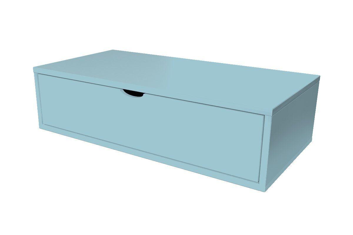 Abc meubles - cube de rangement 100x50 cm + tiroir bleu pastel