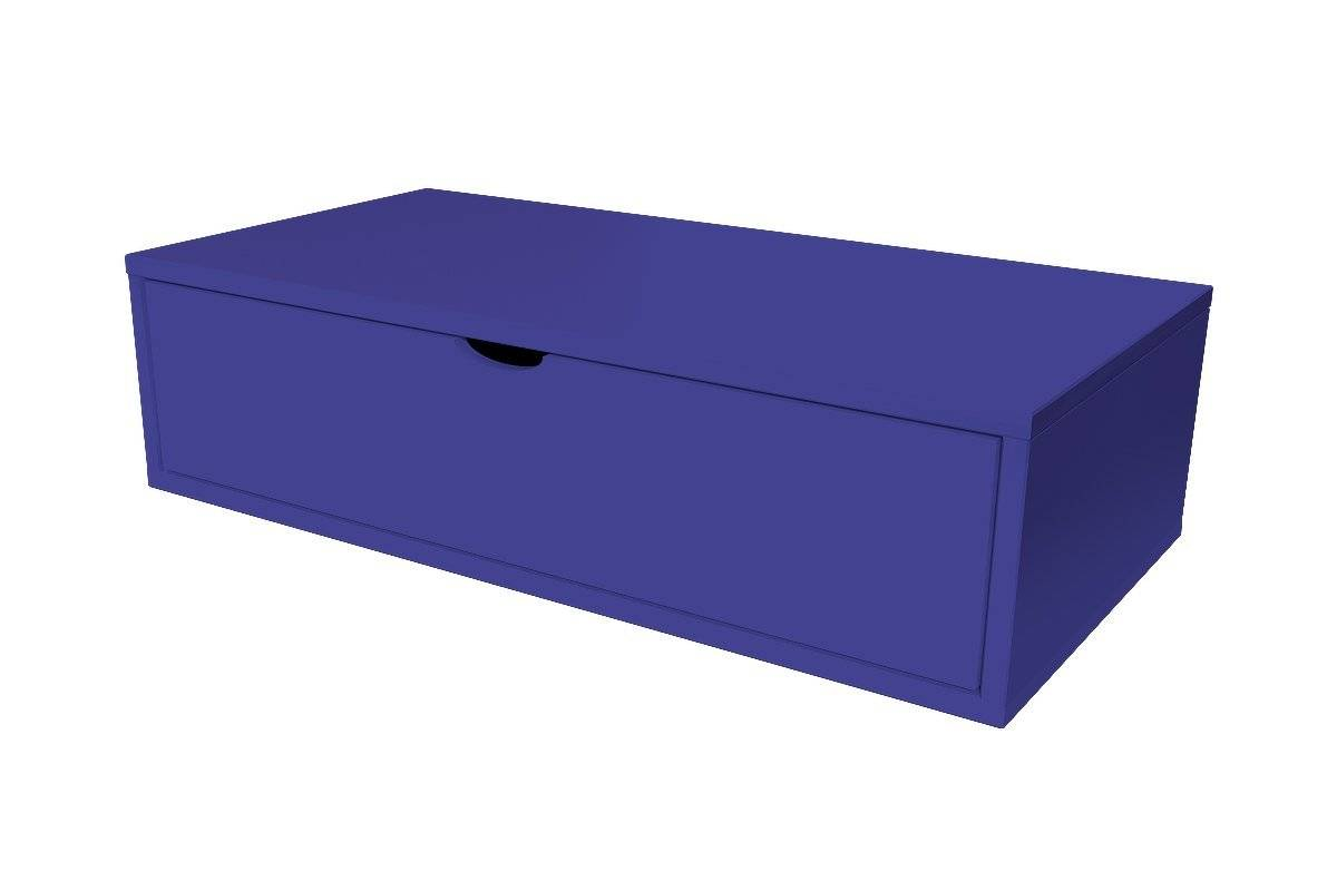 Abc meubles - cube de rangement 100x50 cm + tiroir bleu foncé