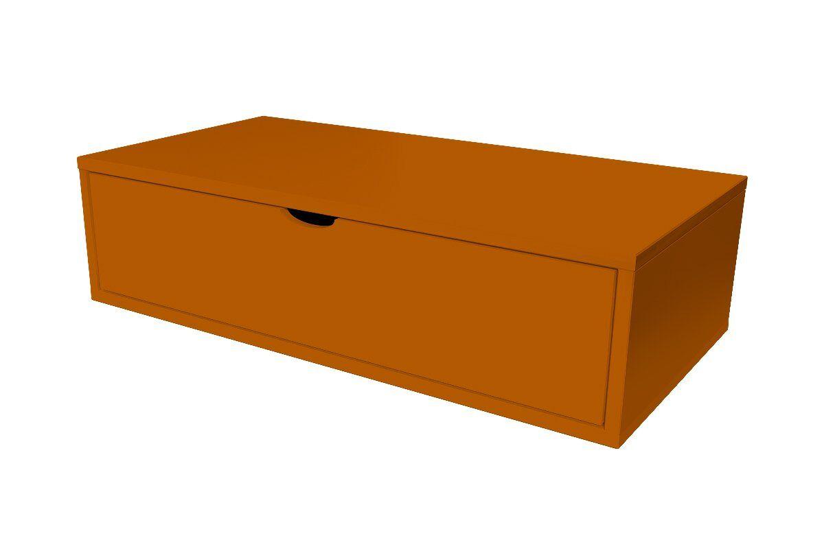 ABC MEUBLES Cube de rangement 100x50 cm + tiroir - / - Chocolat