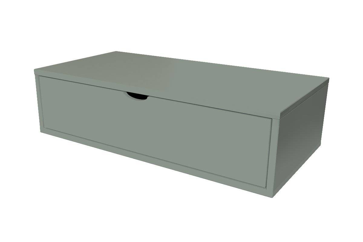 Abc meubles - cube de rangement 100x50 cm + tiroir gris