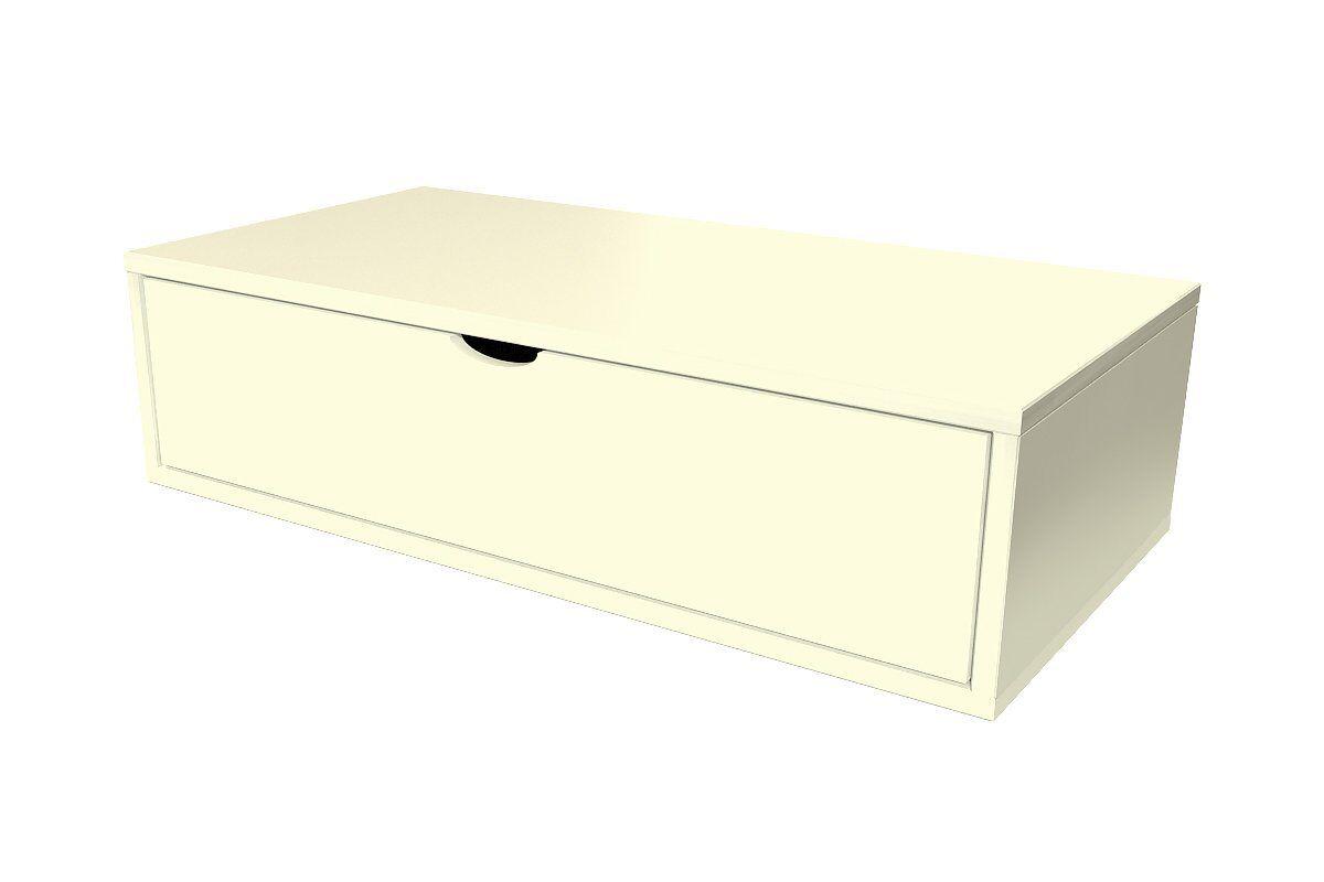Abc meubles - cube de rangement 100x50 cm + tiroir ivoire