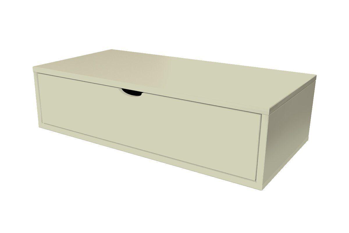 Abc meubles - cube de rangement 100x50 cm + tiroir moka