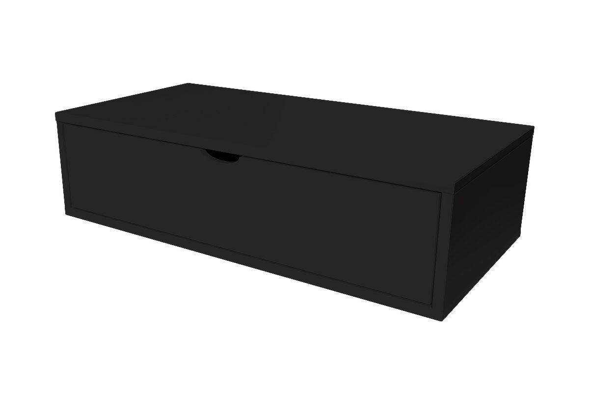Abc meubles - cube de rangement 100x50 cm + tiroir noir