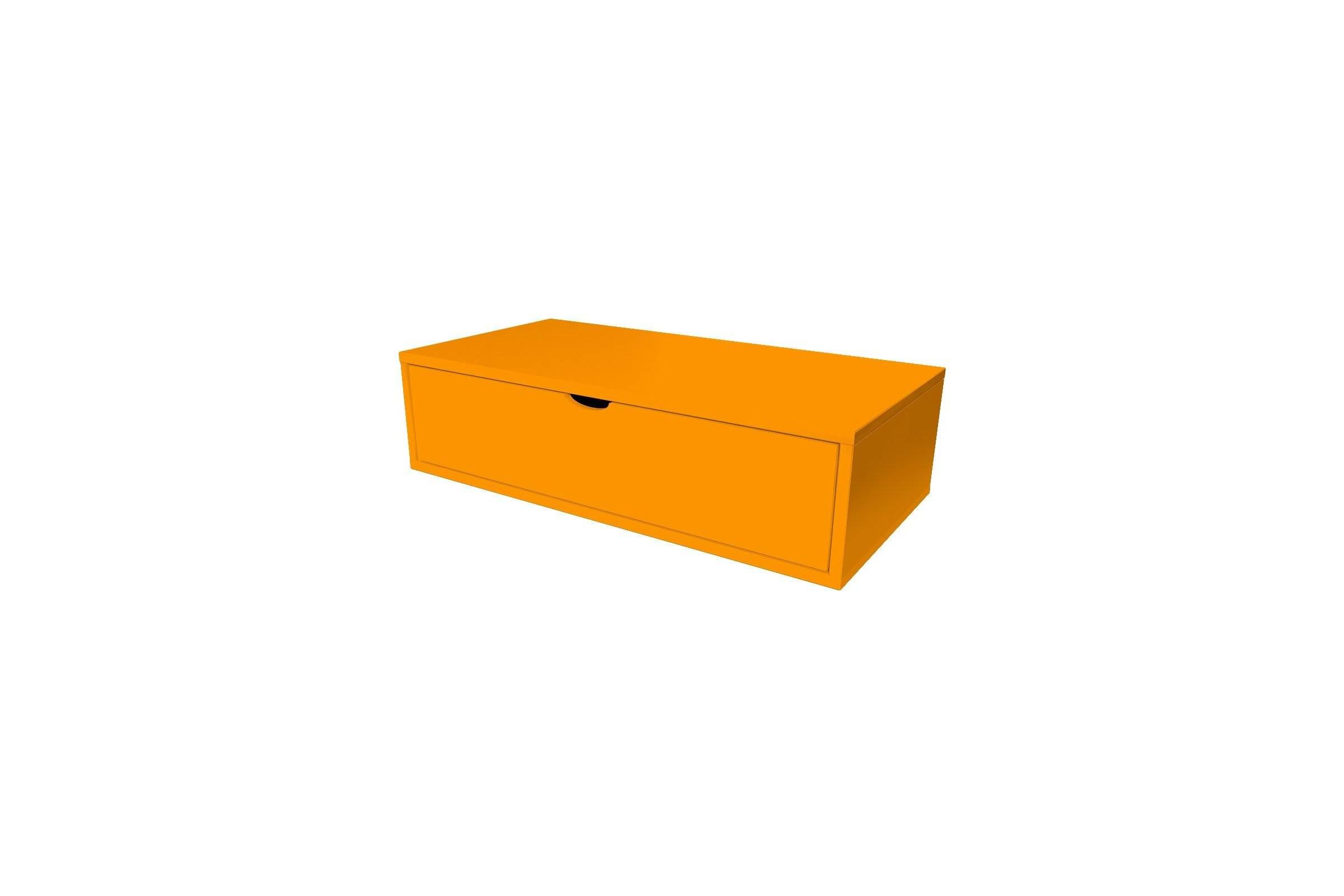 Abc meubles - cube de rangement 100x50 cm + tiroir orange