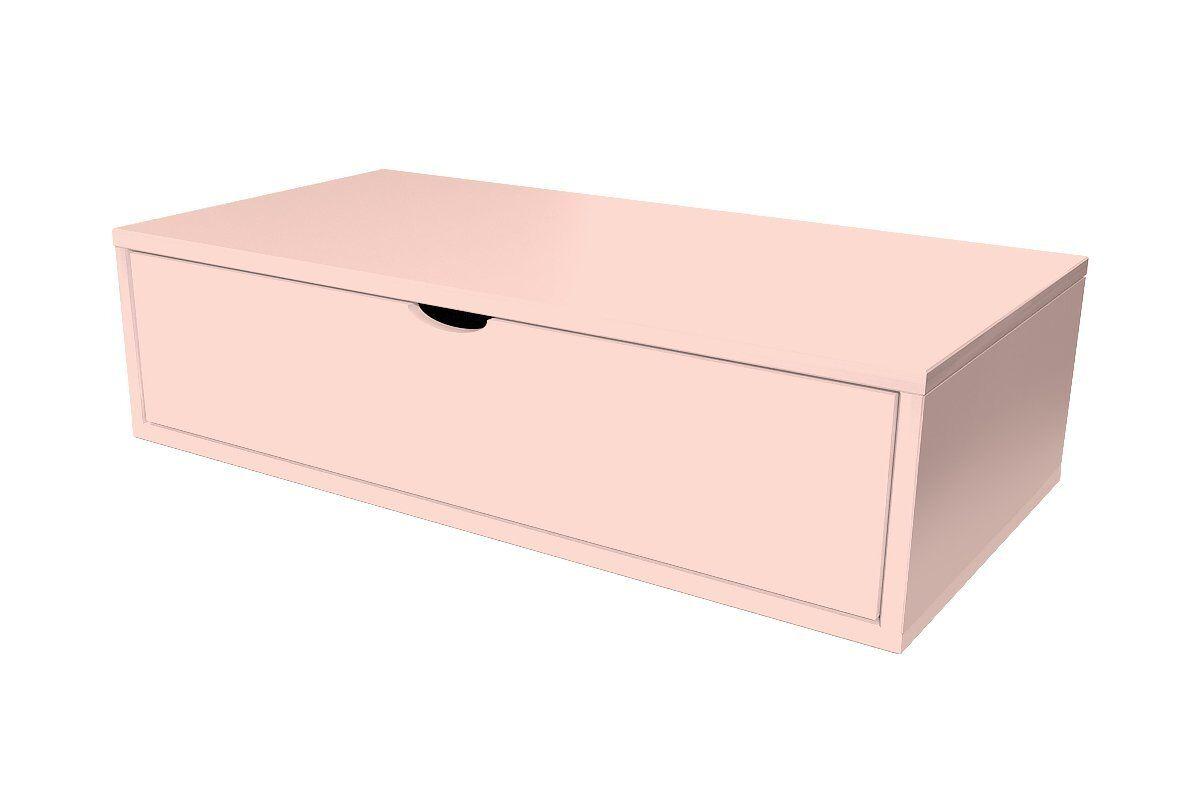 Abc meubles - cube de rangement 100x50 cm + tiroir rose pastel