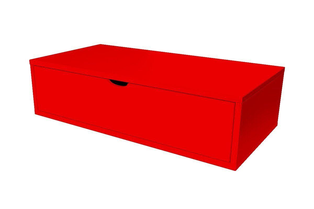 Abc meubles - cube de rangement 100x50 cm + tiroir rouge