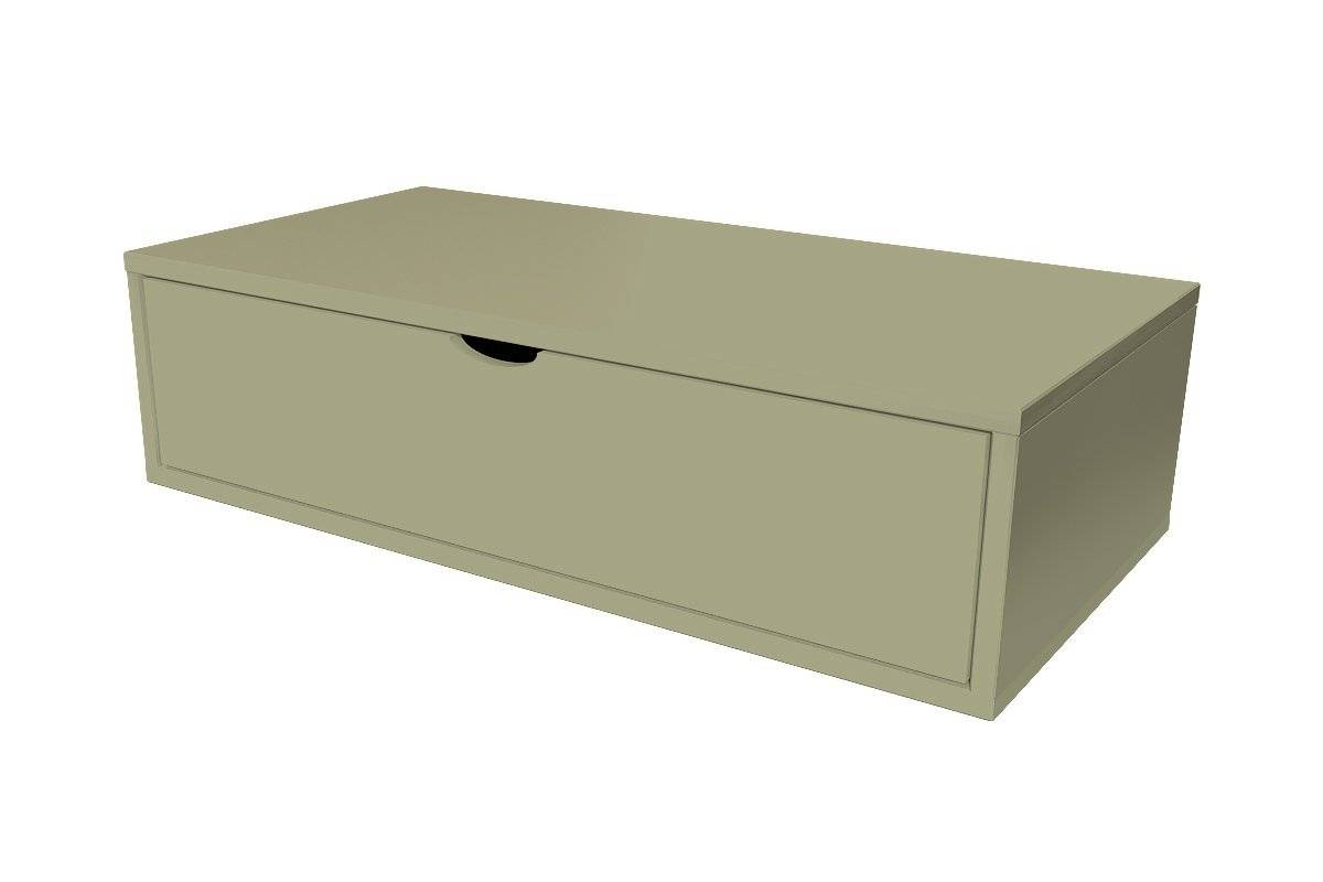 Abc meubles - cube de rangement 100x50 cm + tiroir taupe