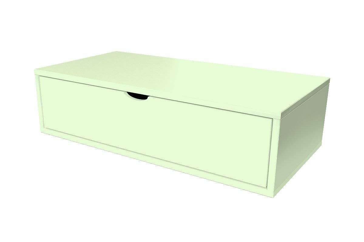 Abc meubles - cube de rangement 100x50 cm + tiroir vert pastel