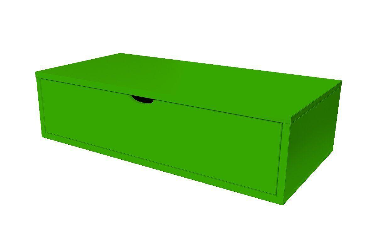 Abc meubles - cube de rangement 100x50 cm + tiroir vert