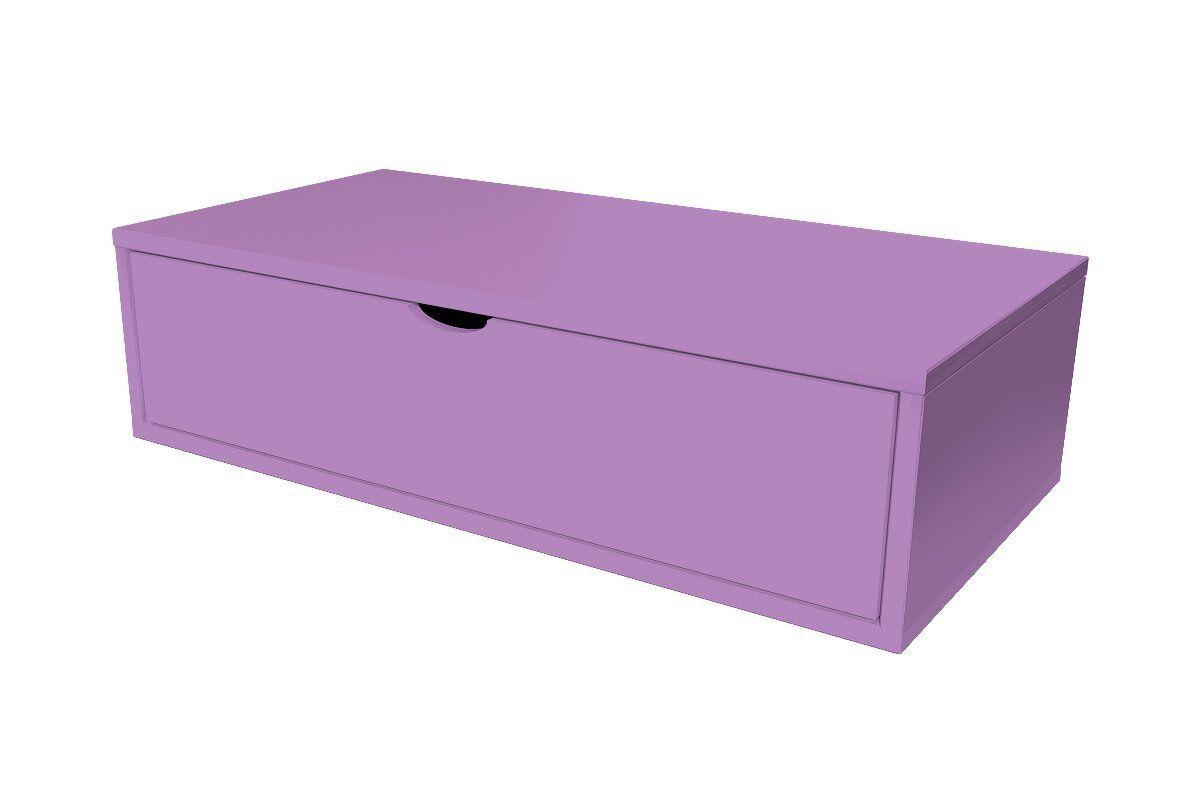 Abc meubles - cube de rangement 100x50 cm + tiroir lilas