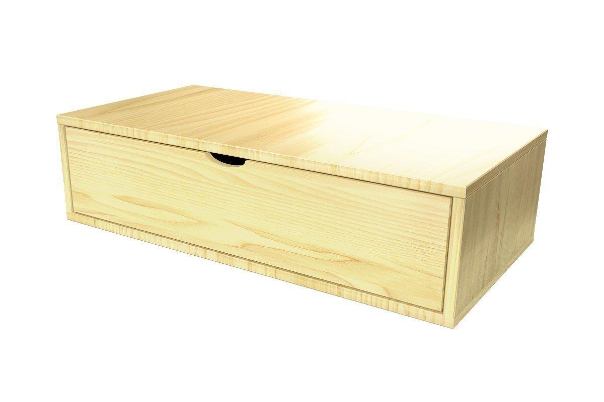 Abc meubles - cube de rangement 100x50 cm + tiroir miel