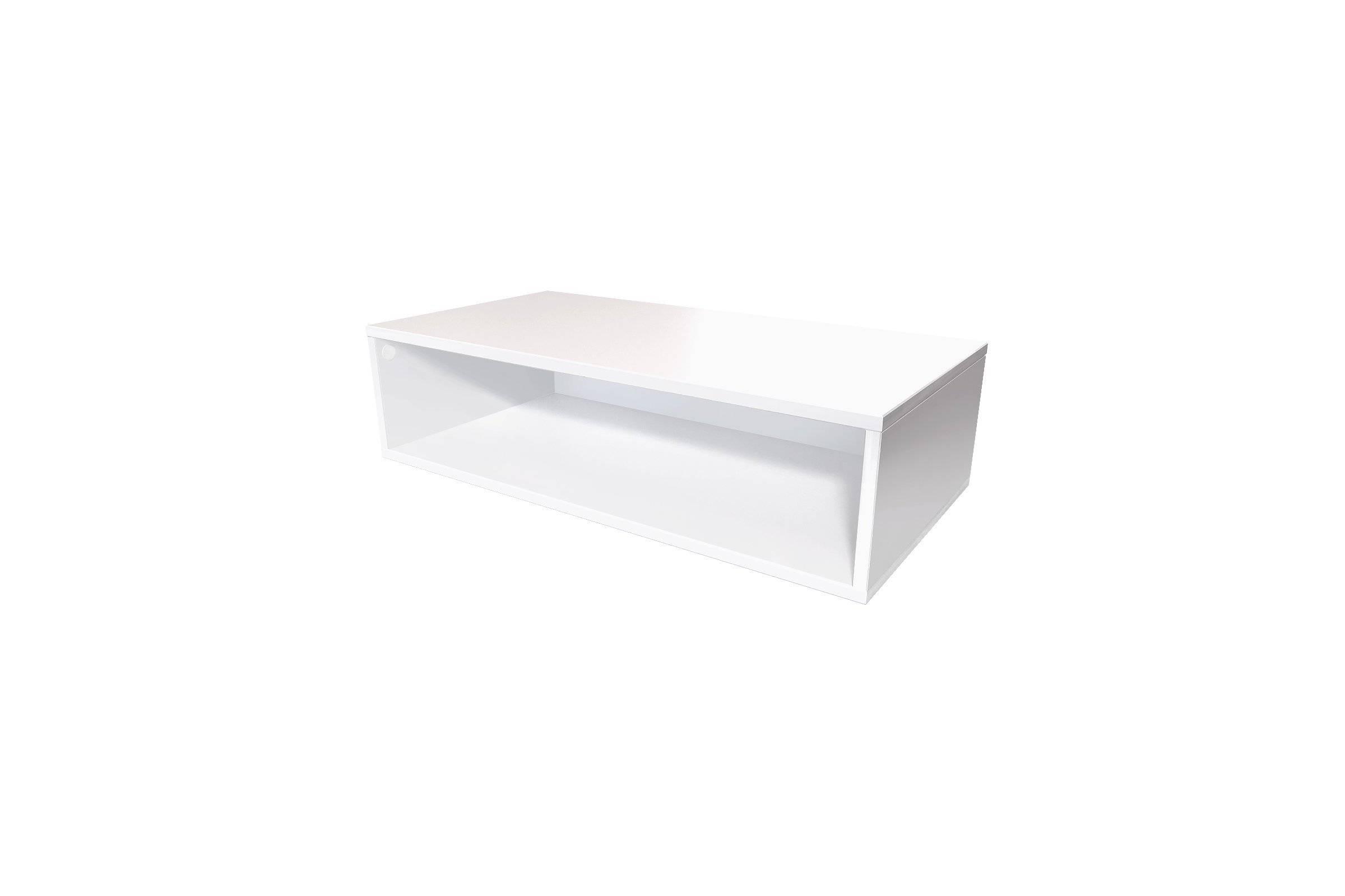 Abc meubles - cube de rangement 100x50 cm bois blanc