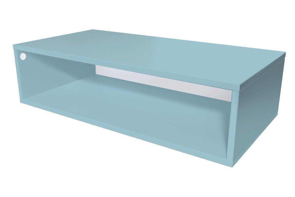 Abc meubles - cube de rangement 100x50 cm bois bleu pastel