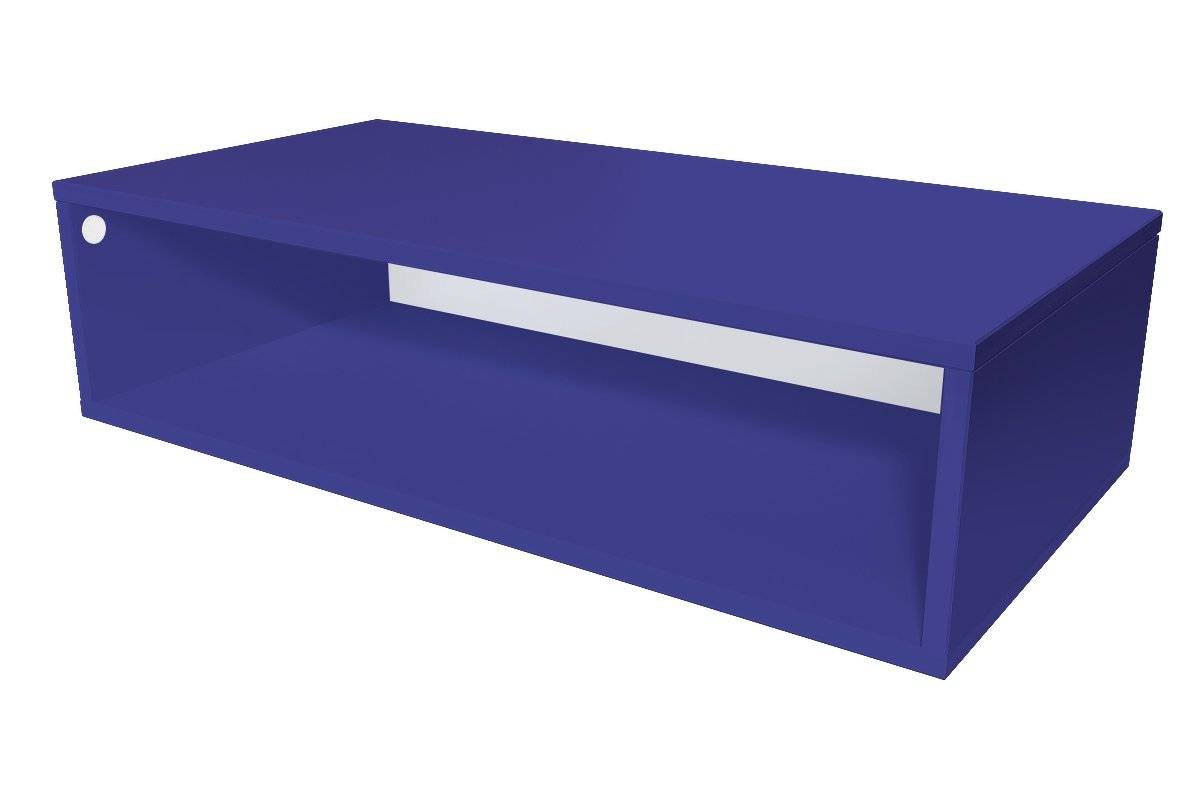 Abc meubles - cube de rangement 100x50 cm bois bleu foncé