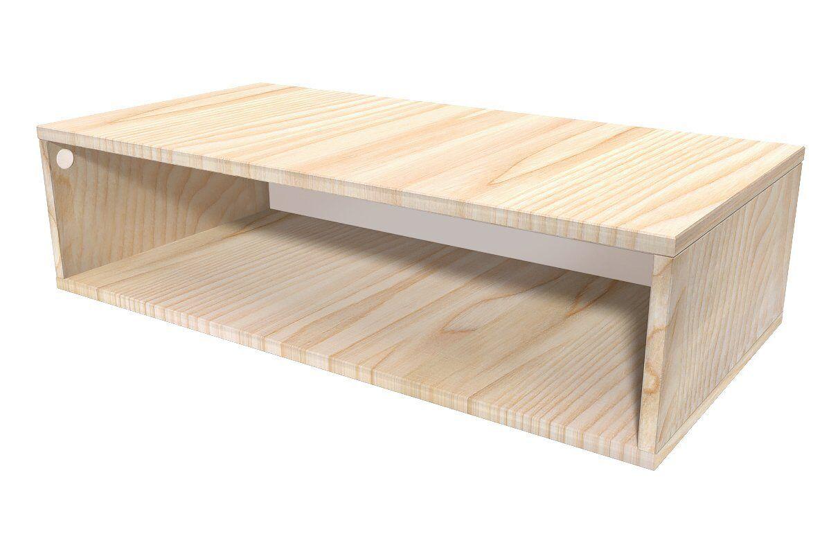 Abc meubles - cube de rangement 100x50 cm bois brut