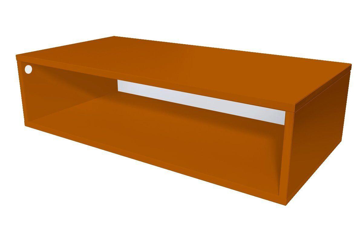 Abc meubles - cube de rangement 100x50 cm bois chocolat