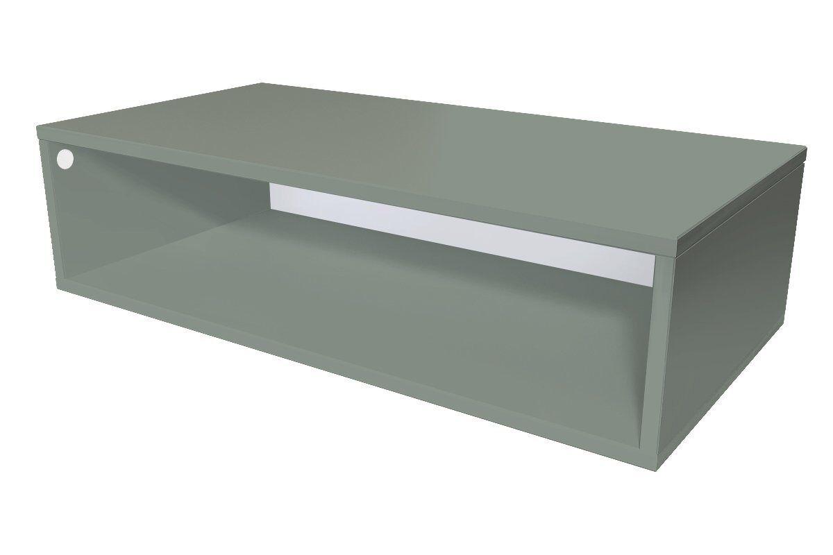 Abc meubles - cube de rangement 100x50 cm bois gris