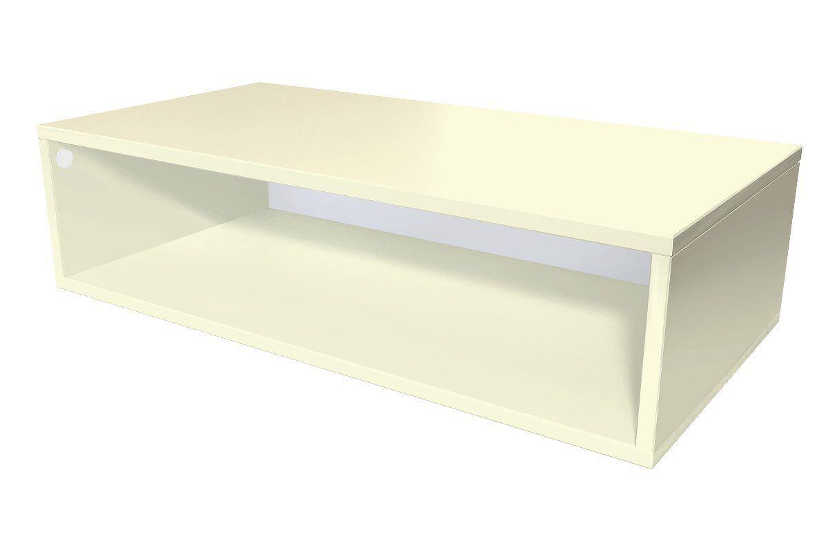 Abc meubles - cube de rangement 100x50 cm bois ivoire