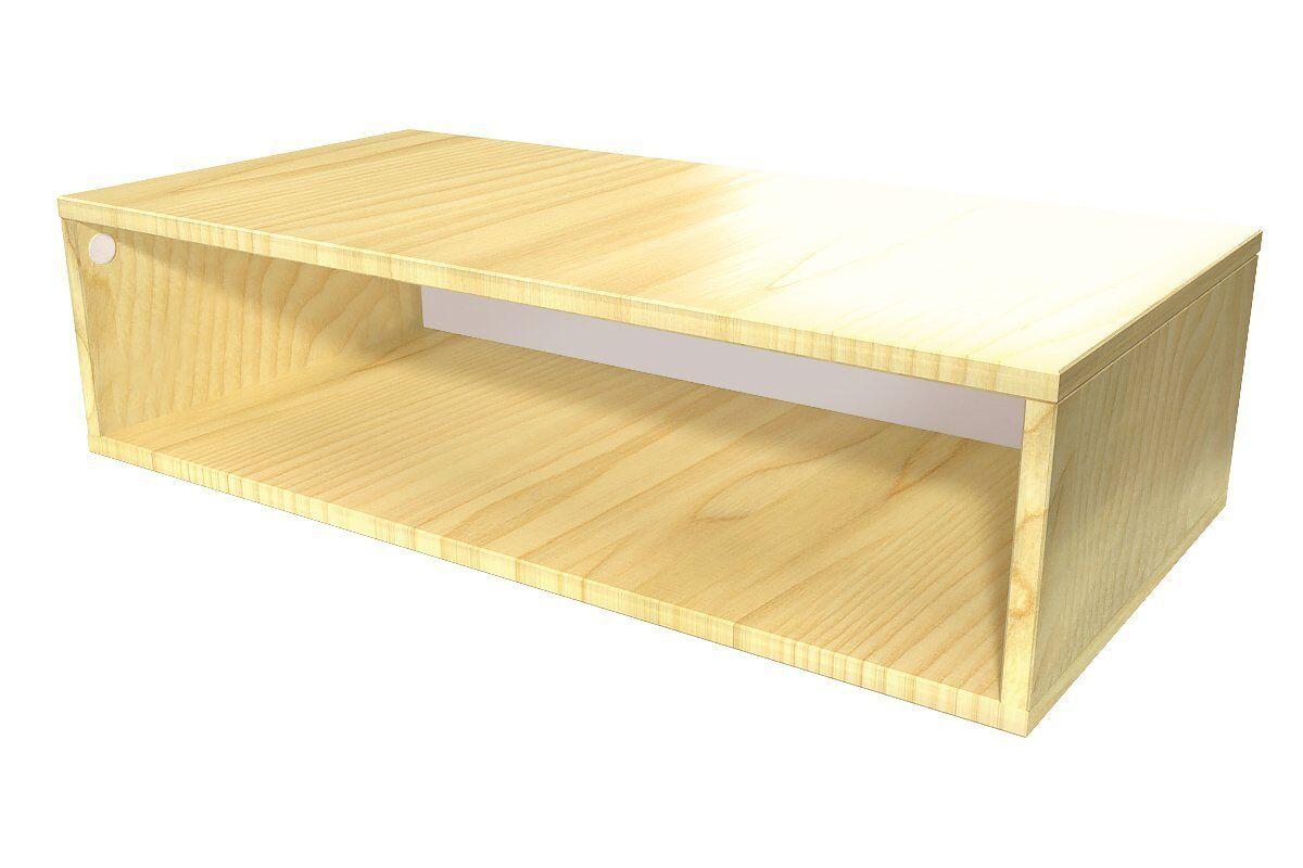 Abc meubles - cube de rangement 100x50 cm bois miel