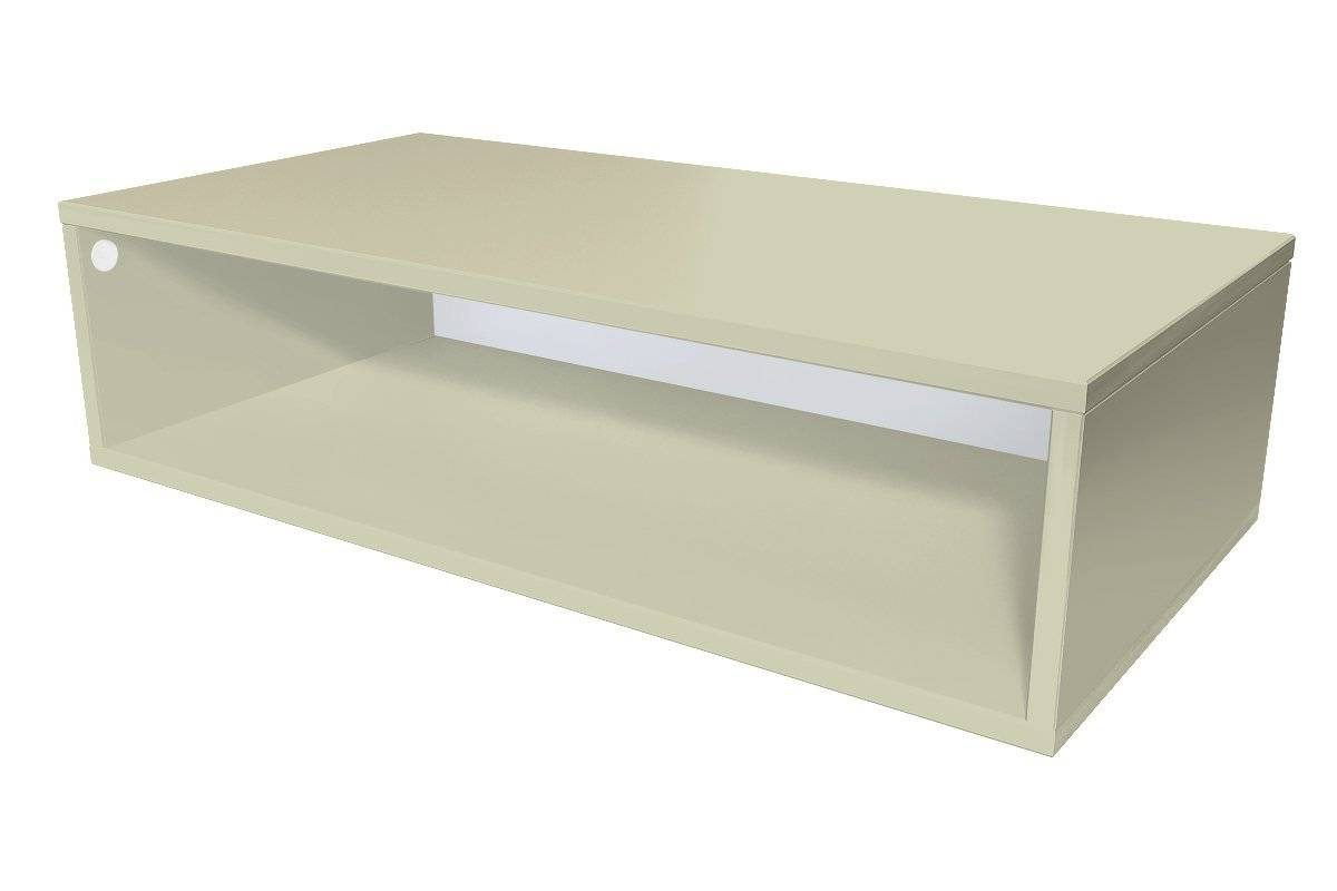 Abc meubles - cube de rangement 100x50 cm bois moka