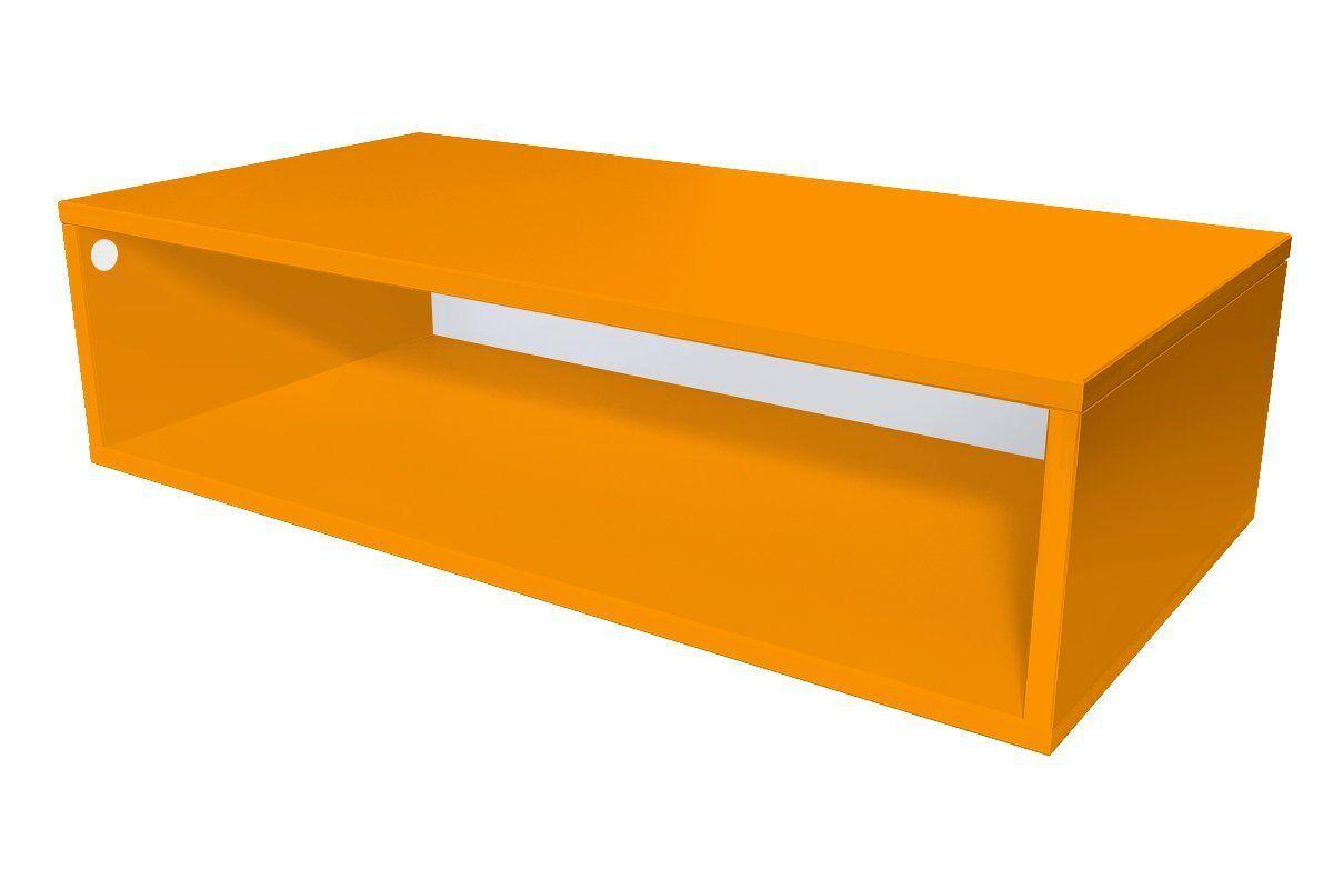 Abc meubles - cube de rangement 100x50 cm bois orange