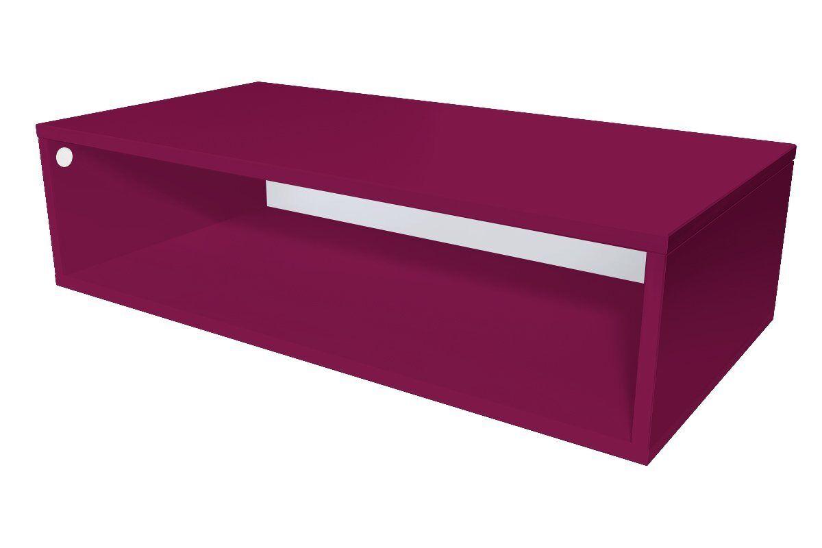 Abc meubles - cube de rangement 100x50 cm bois prune