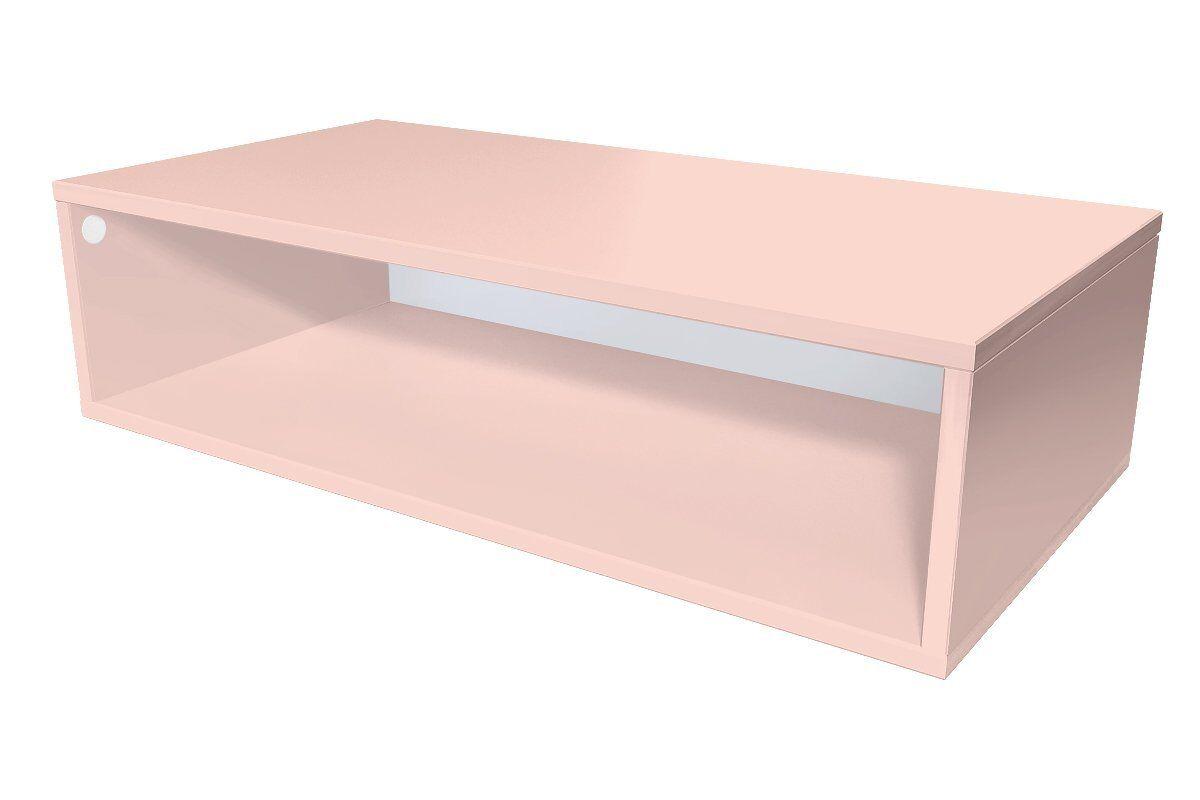 Abc meubles - cube de rangement 100x50 cm bois rose pastel