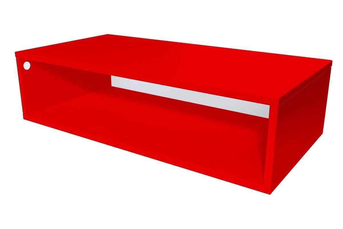 Abc meubles - cube de rangement 100x50 cm bois rouge