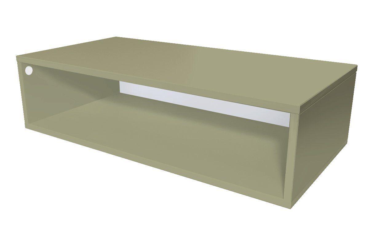 Abc meubles - cube de rangement 100x50 cm bois taupe